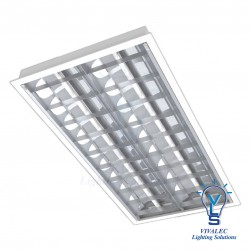 VLS YLI OS YML - T8 LED Mirror Louver Fitting Type RP ( Recessed Plaster Ceiling )