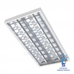 VLS YLI OS YML - T8 LED Mirror Louver Fitting Type R & R-MM ( Recessed T-Bar Ceiling )
