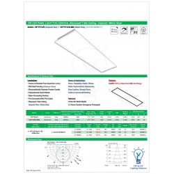 VIP LED PANEL LIGHT TYPE VERTICAL (Recessed T-Bar Ceiling - Imperial / Metric Size)